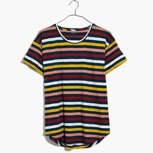 Madewell Whisper Cotton Crewneck Tee Lennie Stripe